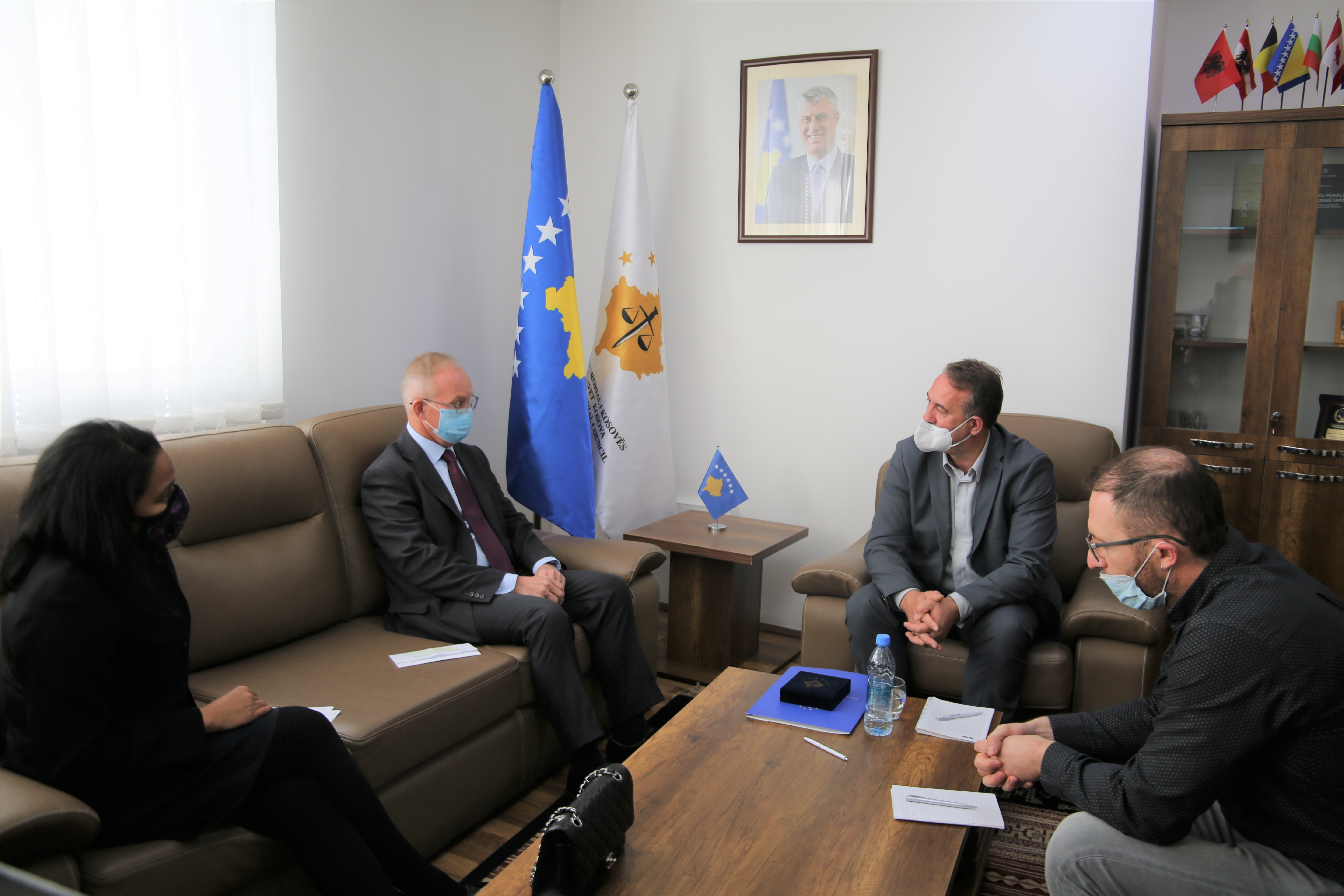 Chairman Hyseni received in the meeting the Ambassador of the OSCE Mission, Braathu