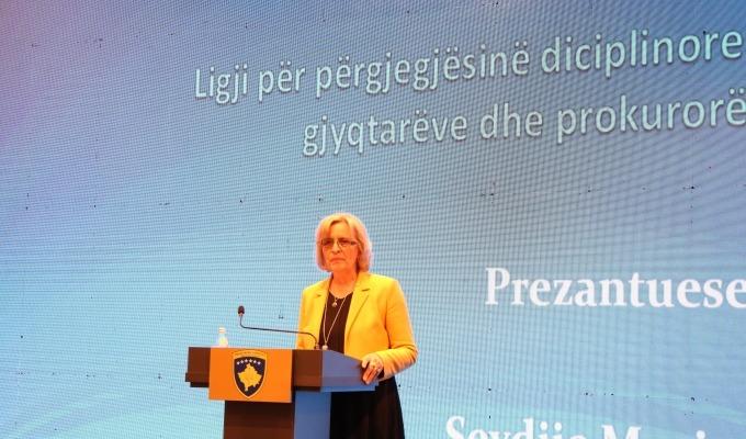 Zëvendëskryeprokurorja Morina prezantoi Ligjin për Përgjegjësinë Disiplinore të Gjyqtarëve dhe Prokurorëve
