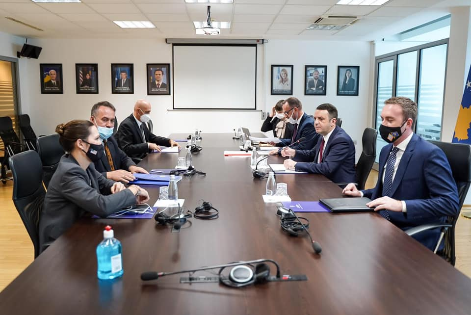 Chairman Hyseni and Minister Selimi discussed the process of functional review of the rule of law