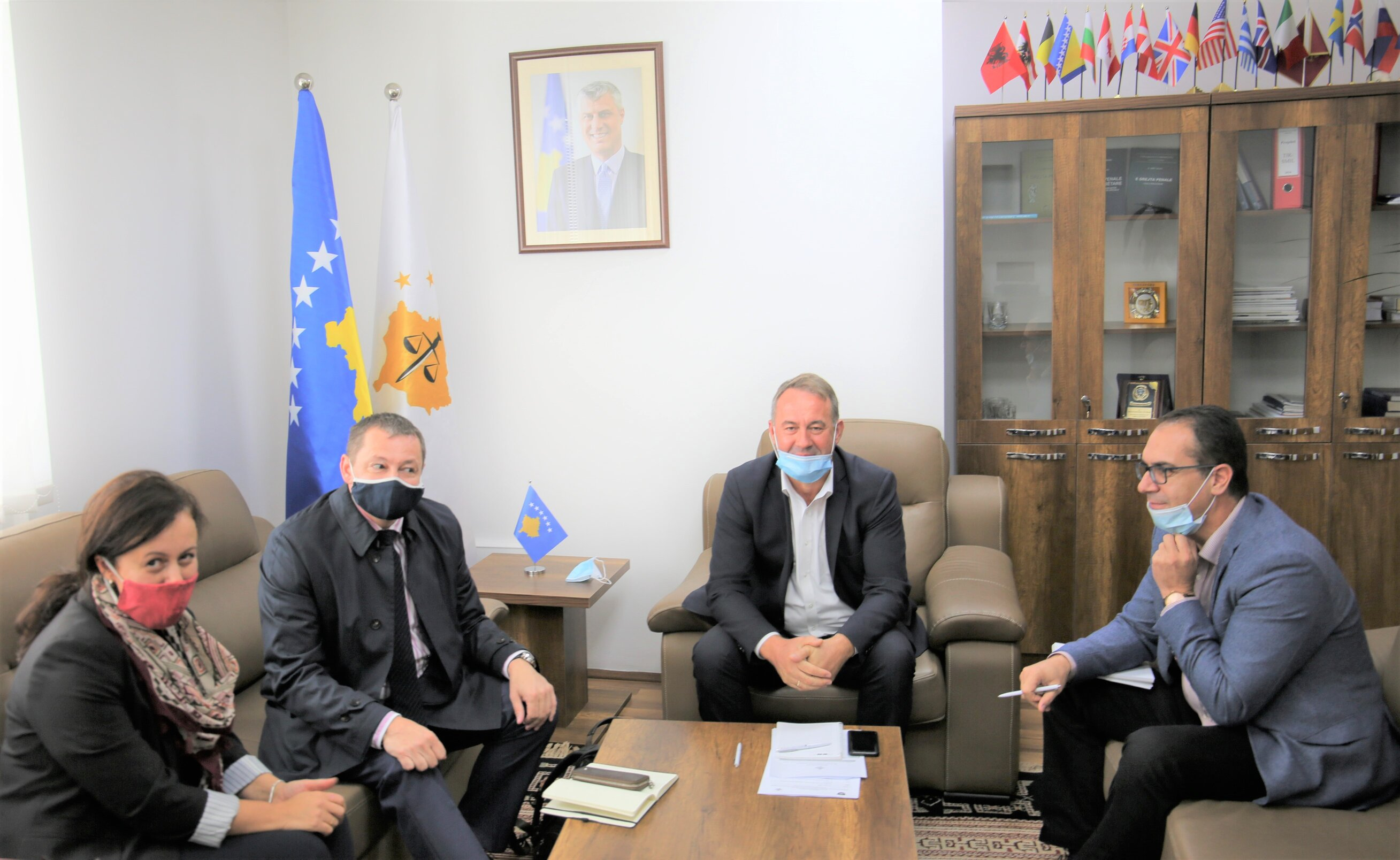 """The Chairman of the KPC received in a meeting the representative of the project """"Strengthening the judicial system in Kosovo"""""""