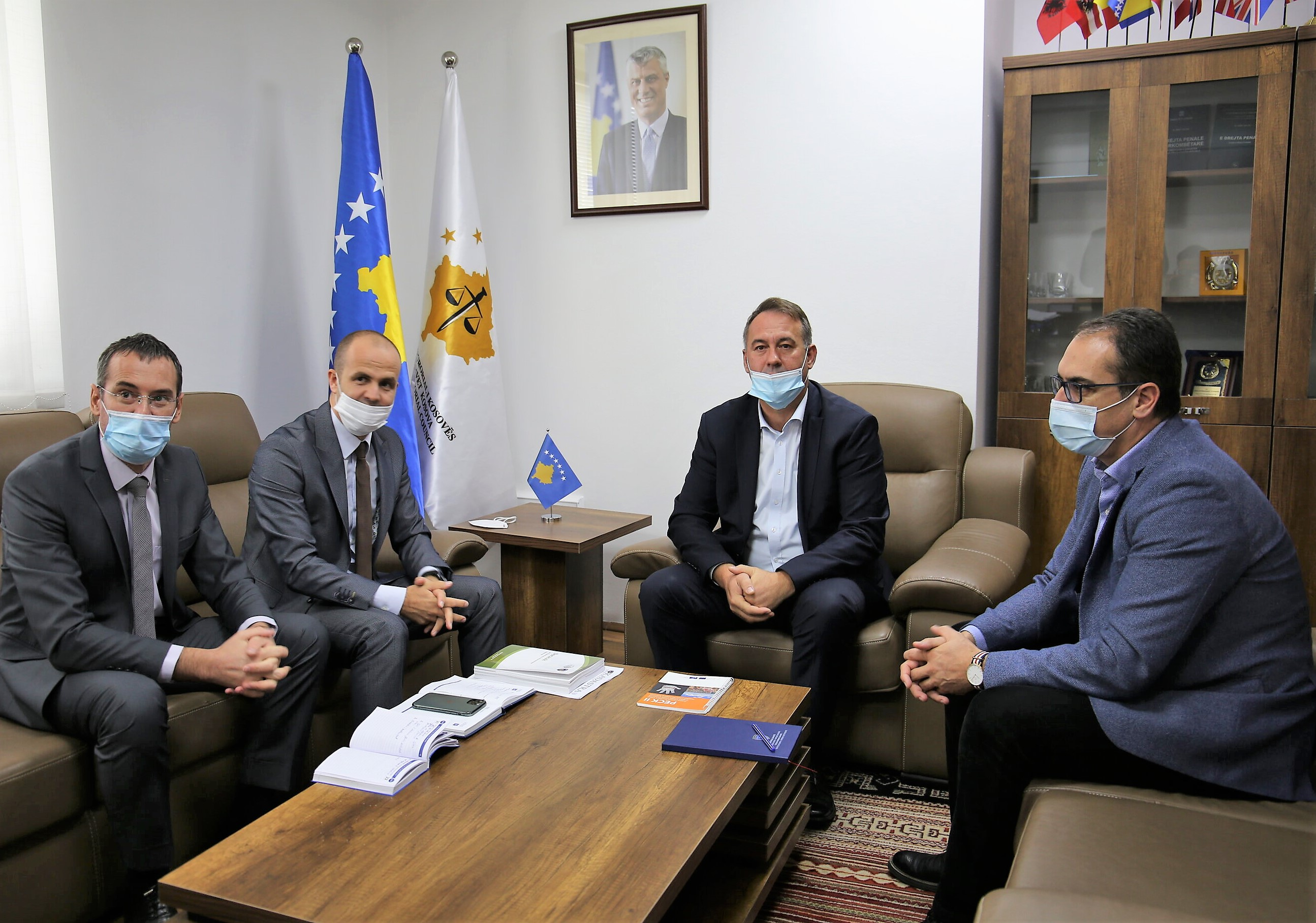 Chairman Hyseni received in a meeting the Chief Executive Officer of KCA, Mr. Ahmeti