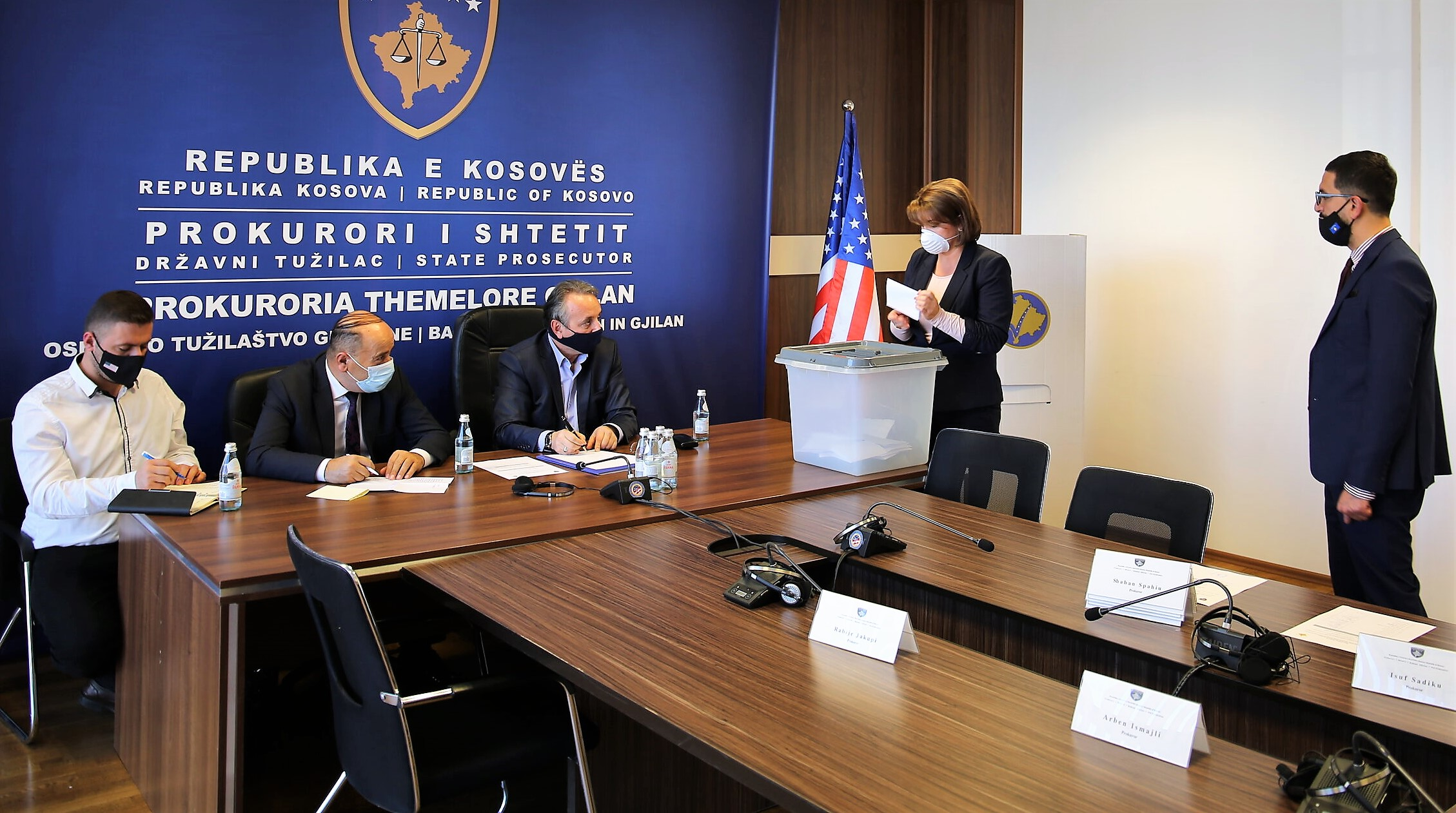 Voting process for the election of KPC members from the ranks of the Basic Prosecution of Prishtina, Ferizaj and Gjilan takes place