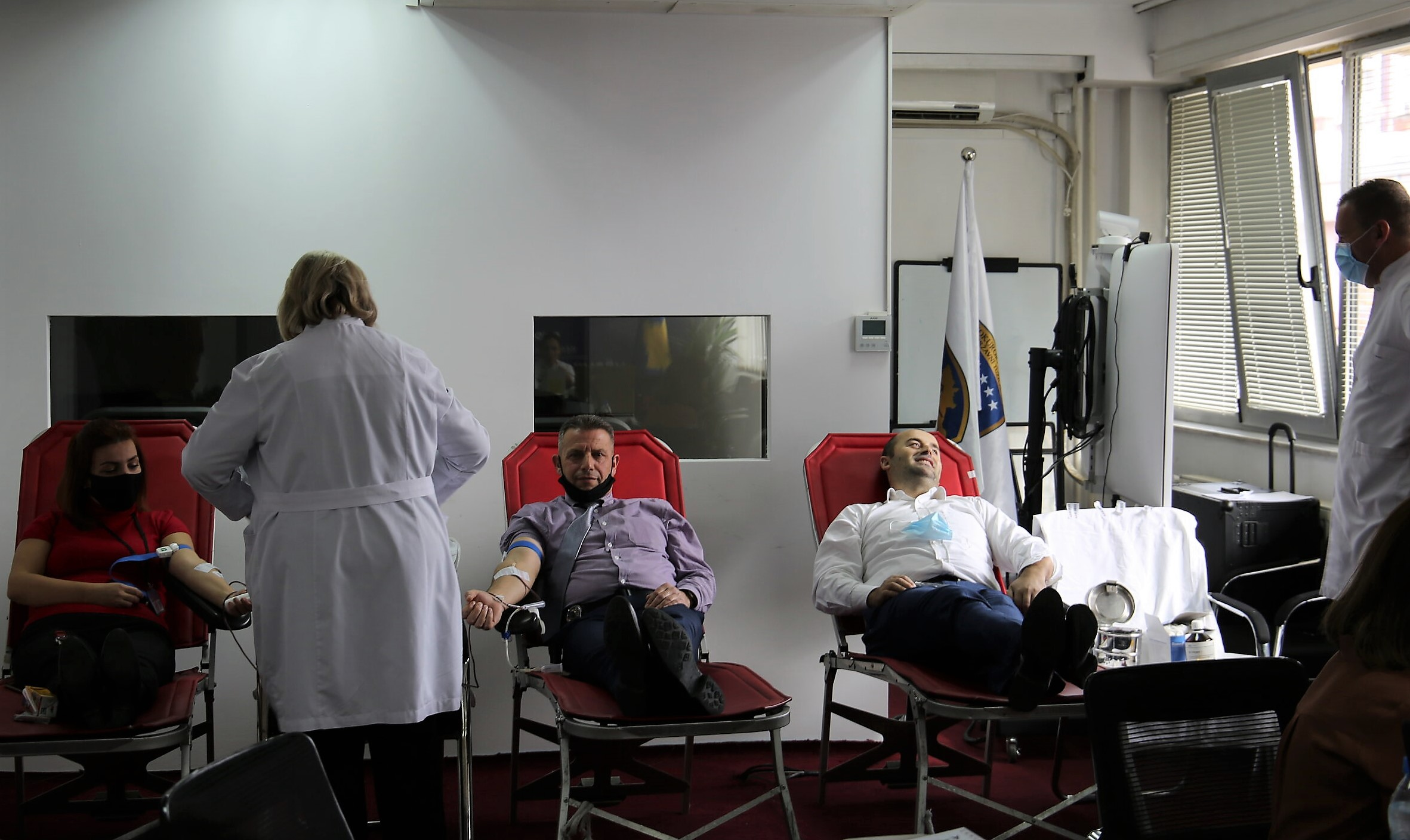 A voluntary blood donation action was held in the prosecutorial system