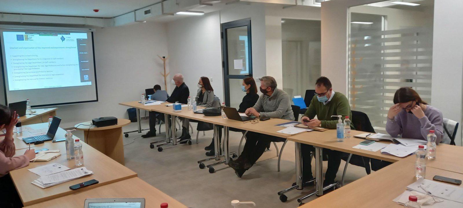 Prezantohet raporti fillestar i projektit të IPA-s, EUKOJUST