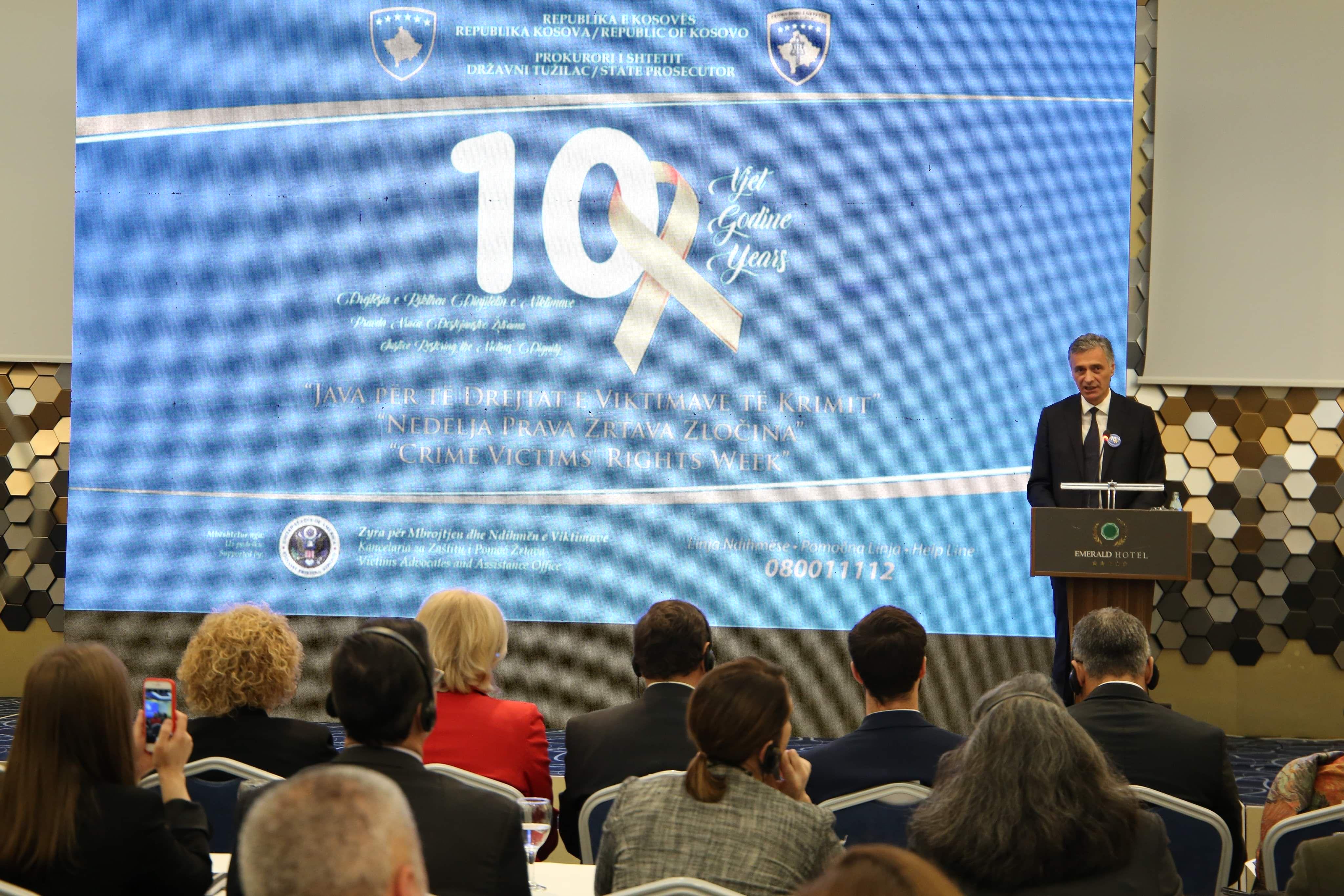 Fjalimi i Kryeprokurorit të Shtetit, Aleksandër Lumezi, në dhjetë vjetorin e Javës për të Drejtat e Viktimave të Krimit