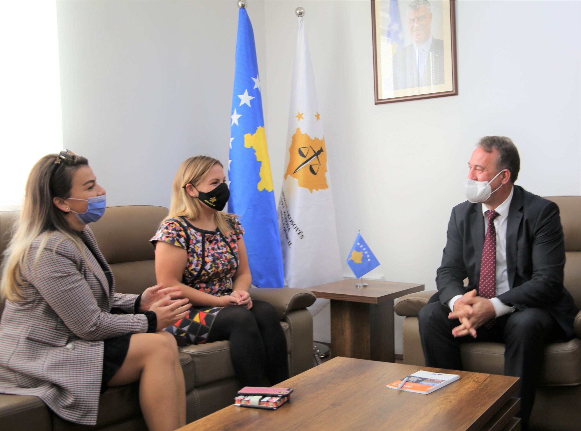 The Chairman of the KPC Meets the Head of the Rule of Law Sector at the Embassy of the United Kingdom