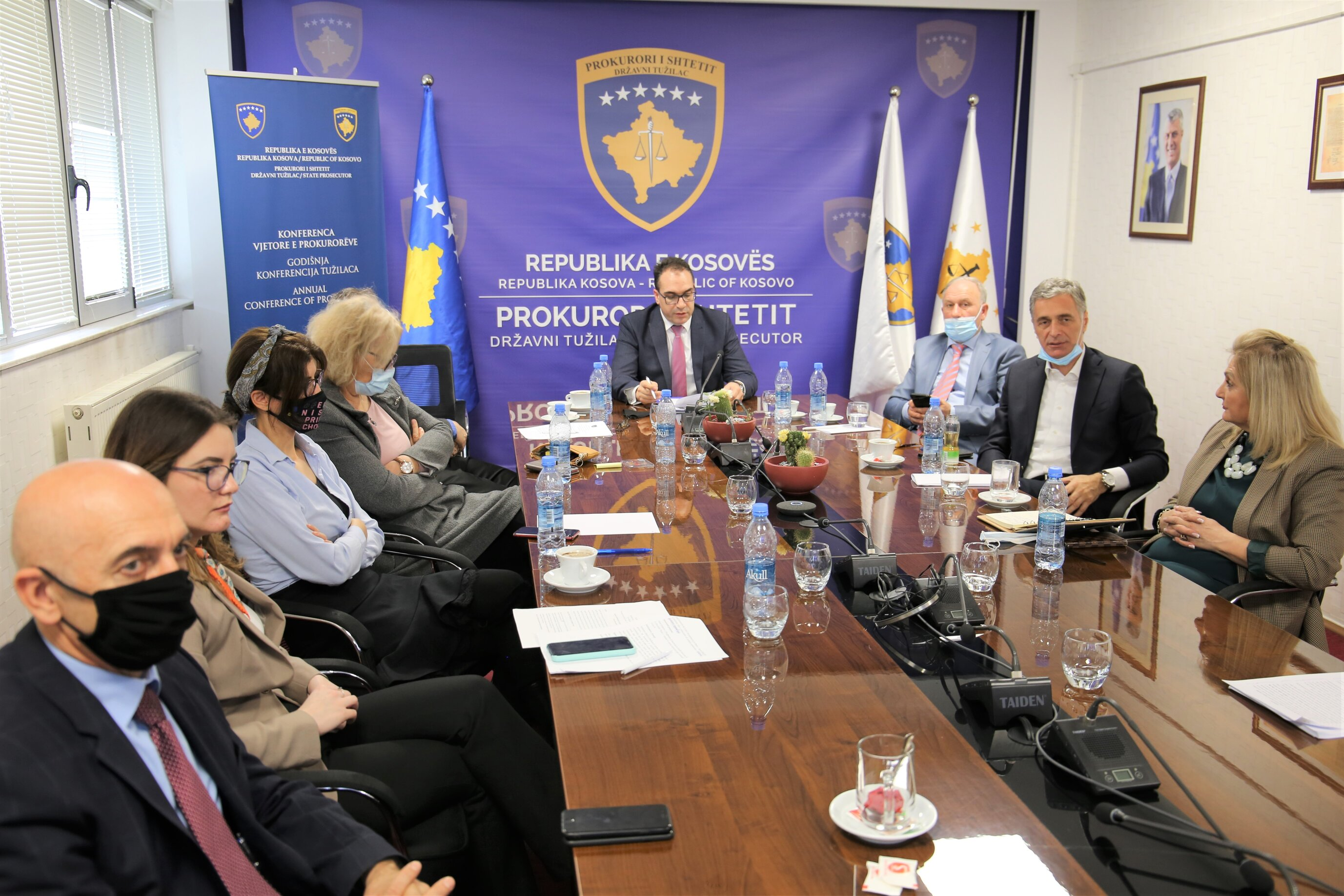 Prezantimi i Drejtorit të Përgjithshëm të Këshillit Prokurorial të Kosovë, Lavdim Krasniqi, me rastin e mbajtjes së Konferencës Vjetore të Prokurorëve